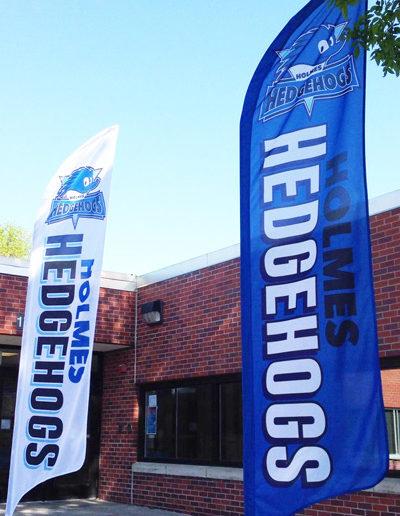 Holmes Hedgehogs flag