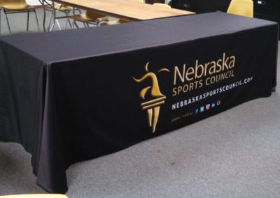 Nebraska Sports Table Cover